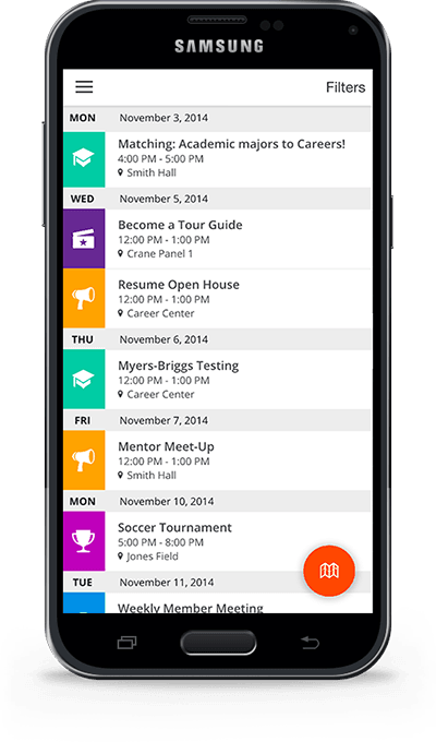Corq displayed on Samsung Galaxy S5